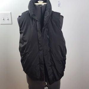 Grey Puffer Vest with Pockets